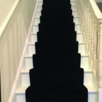 carpet runner on the stairs