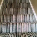 stripey carpet on stairs