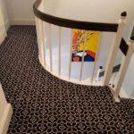 new patterned carpet on landing