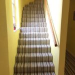 new stripey runner on stairs